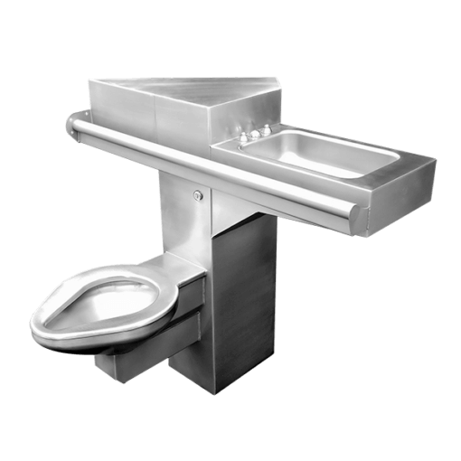 "15"" Wide Handicap-ADA Combination Lavatory/Toilet Units for use on 45 degree chase wall"