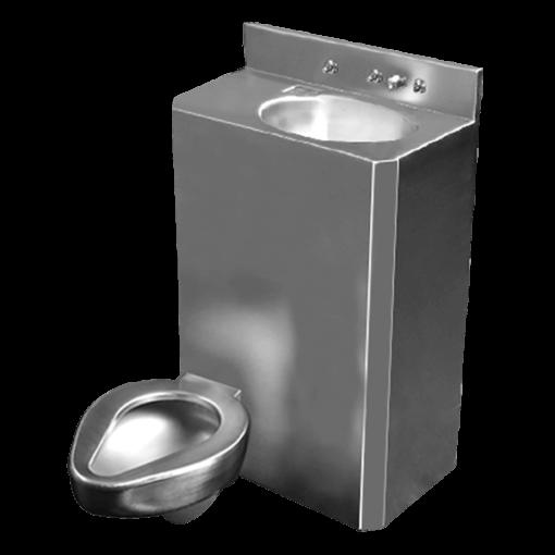 "26"" Wide Combination Unit (toilet/lavatory) with offset toilet bowl"