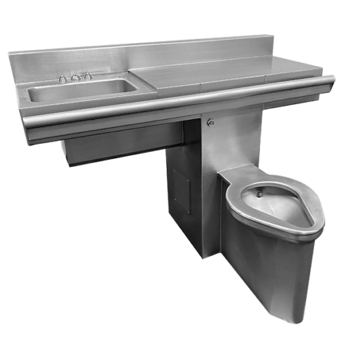 "Willoughby 48"" Willoughby Combination Unit (4896-FA-Series) is a Handicap-ADA Front Access Combination Lavatory/Toilet Unit for use on a 90-degree wall."