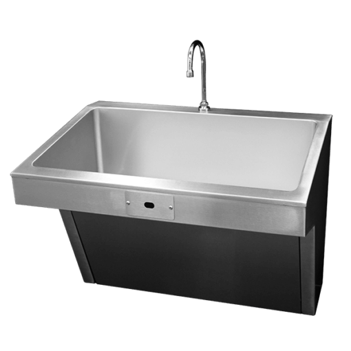 The Willoughby WSSS-ADA Surgical Scrub Sink is a compact, single- or multi-user, stainless steel ADA compliant sink for use in healthcare environments.