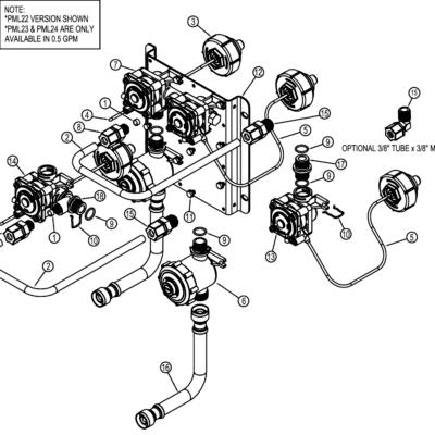 PML22 - PML22 Manifold Valve Breakdown