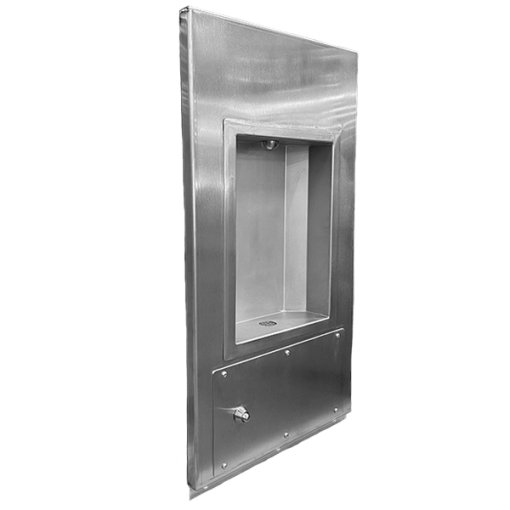 WBF 1RM recessed mounted heavy duty bottle filler angled
